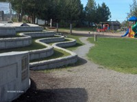 550 sq.ft. Lock + Load Retaining Wall for the District of Tofino at the Village Green Park, Tofino, BC.