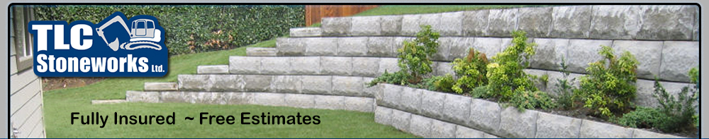 TLC Stoneworks Ltd.  Landscaping, excavation, retaining walls  -  Comox Valley, BC
